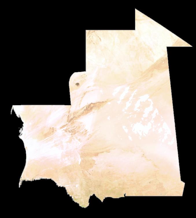 Mauritania Satellite Map