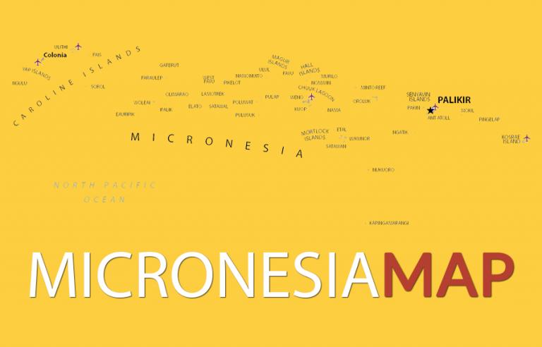 Micronesia Map [Federated States of Micronesia]