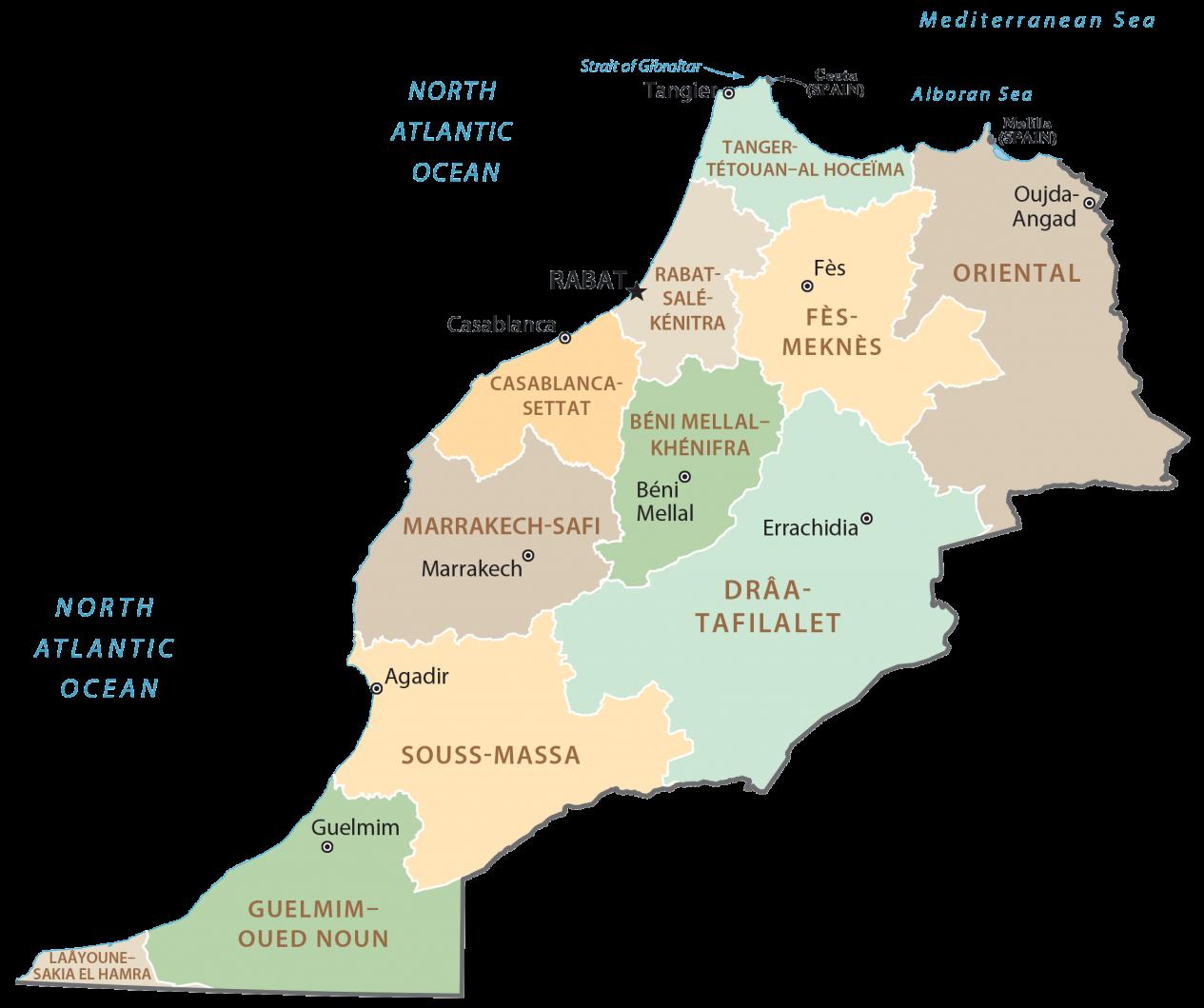 Morocco Regions Map