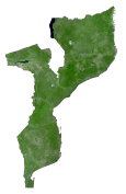Mozambique Satellite Map