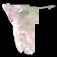 Namibia Satellite Map