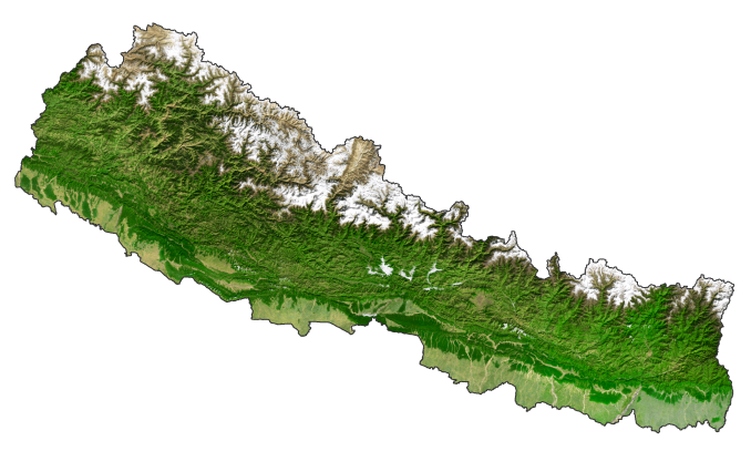Nepal Satellite Map