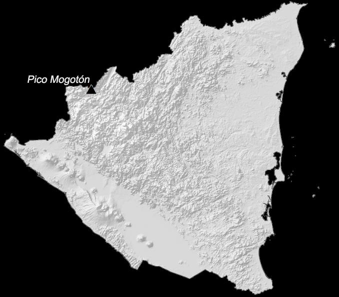 Nicaragua Elevation Map