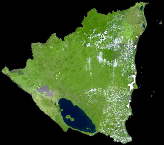 Nicaragua Satellite Map