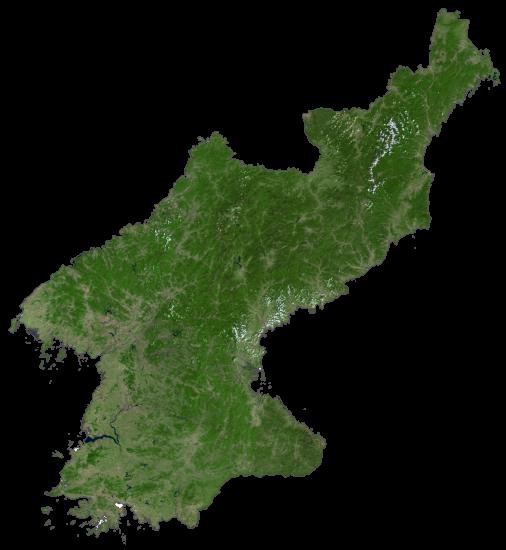 North Korea Satellite Map