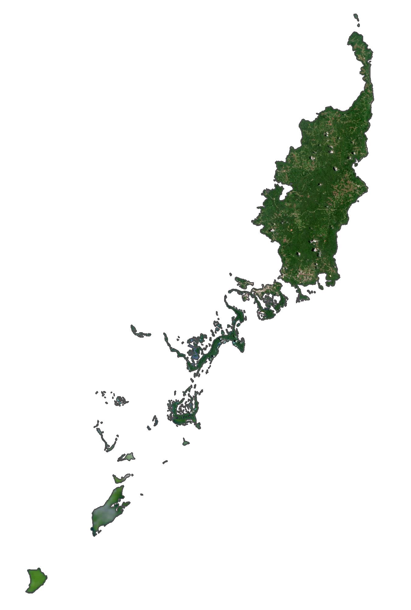 Palau Satellite Map