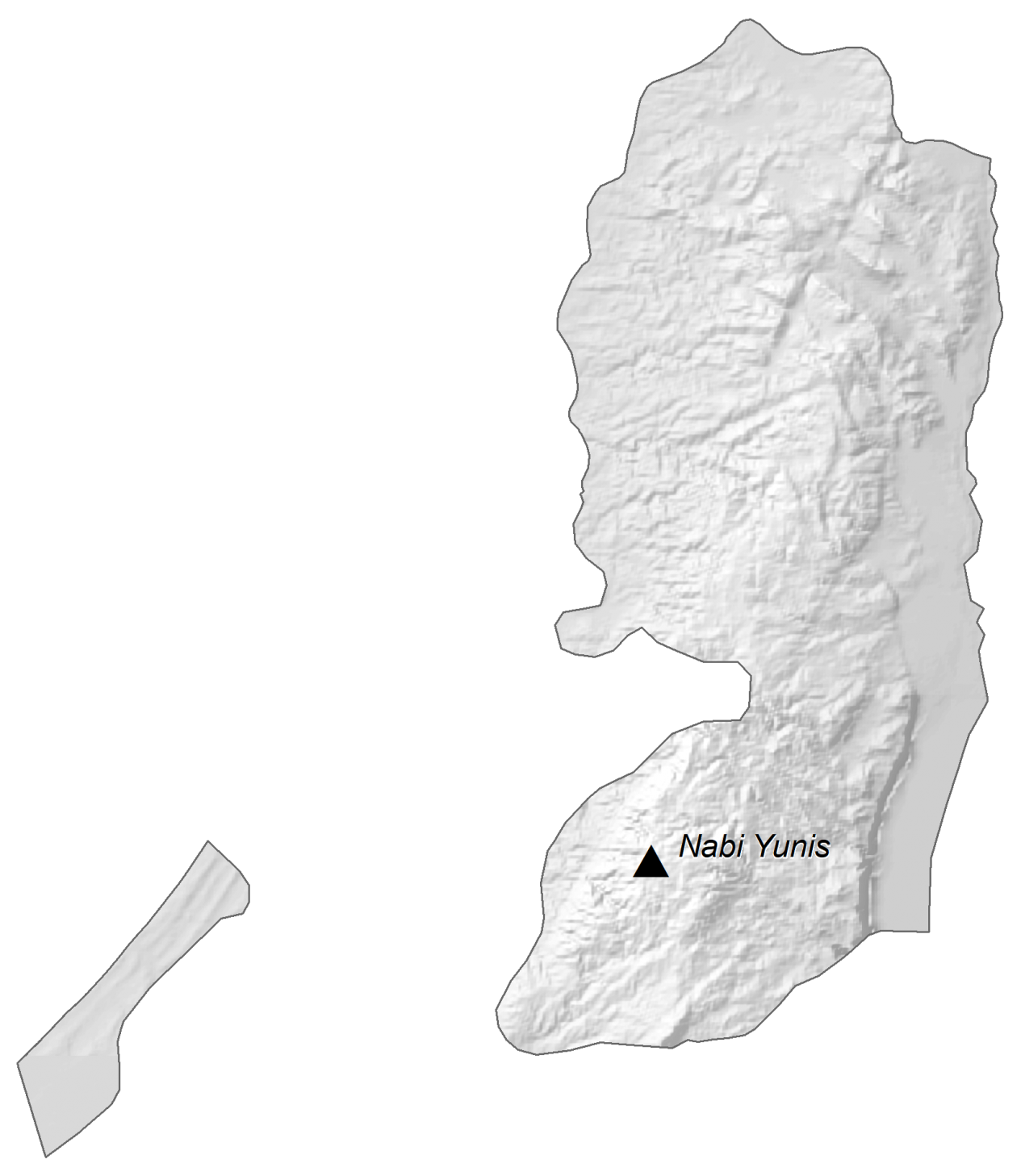 Palestine Elevation Map