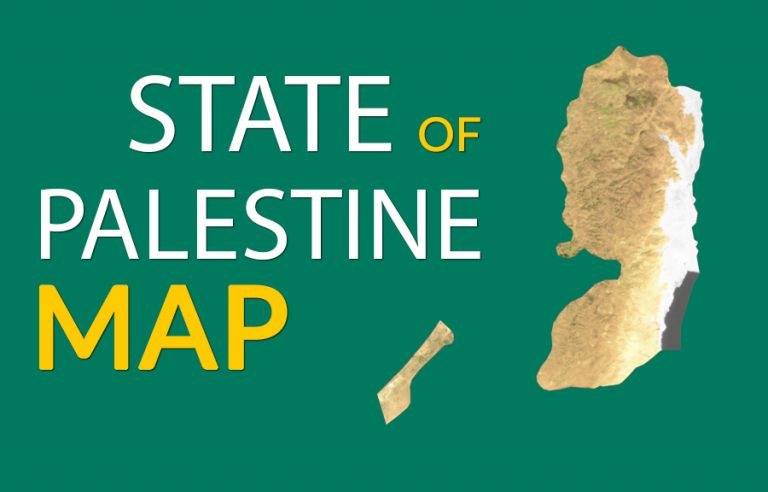 State of Palestine Map