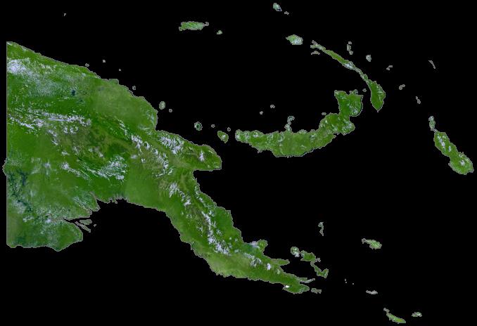 Papua New Guinea Satellite Map