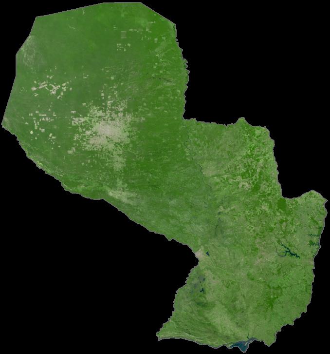 Paraguay Satellite Map