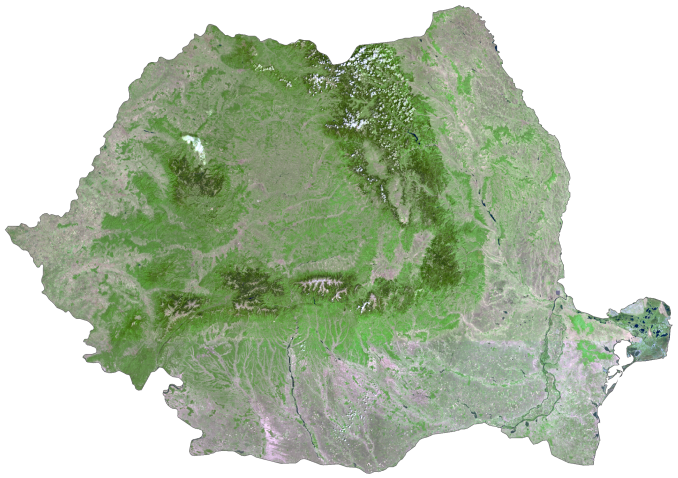 Romania Satellite Map