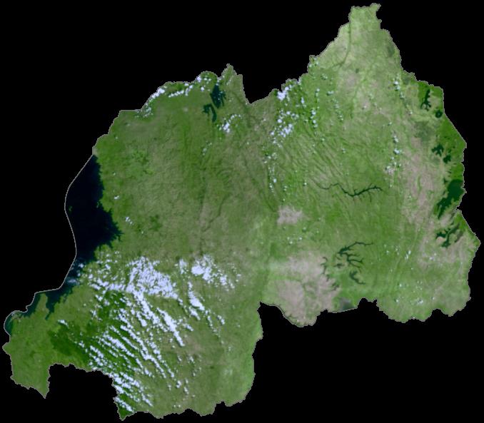 Rwanda Satellite Map
