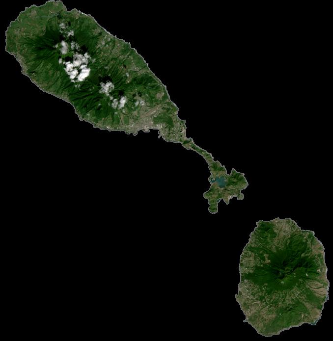 Saint Kitts and Nevis Satellite Map