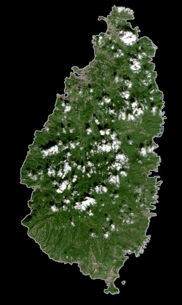 Saint Lucia Satellite Map