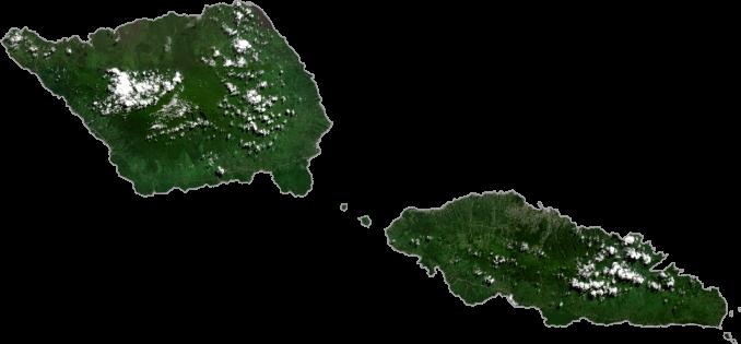 Samoa Satellite Map
