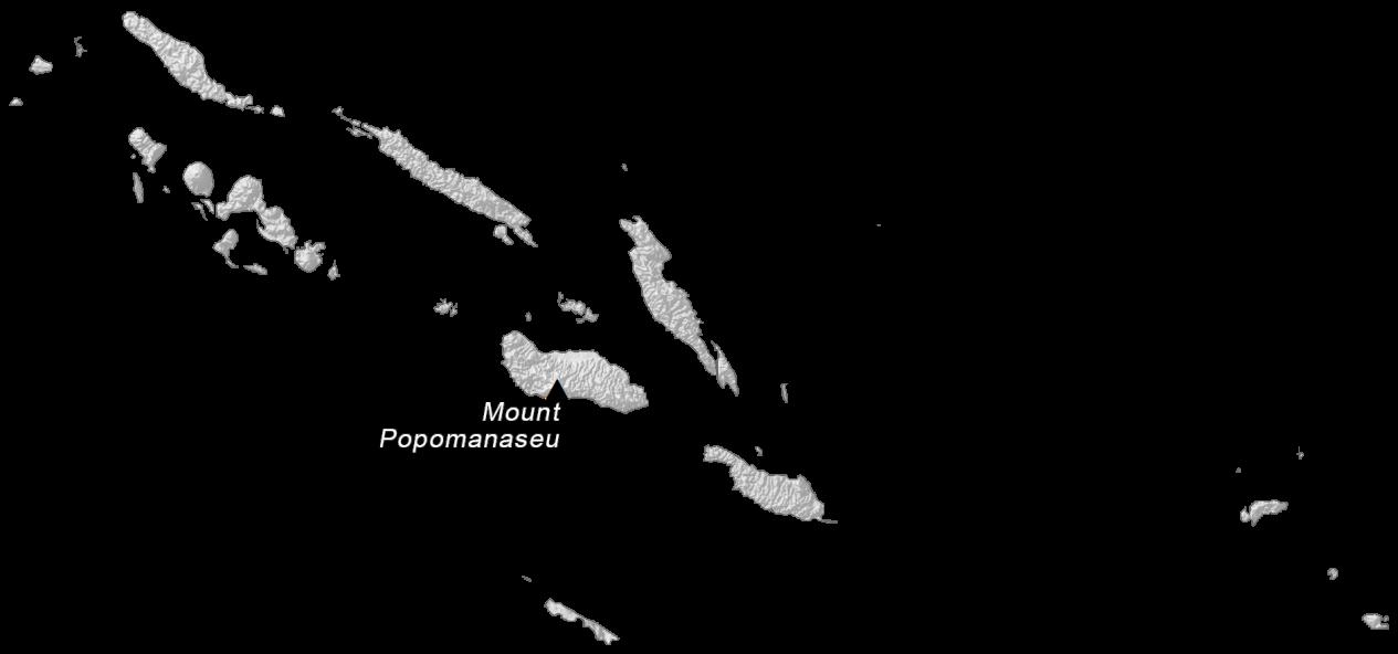 Solomon Islands Elevation Map