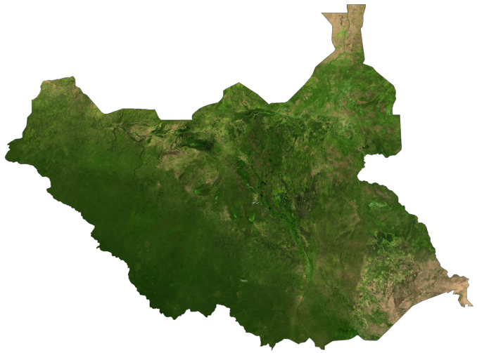 South Sudan Satellite Map
