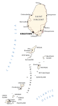 St Vincent and Grenadines Map