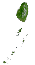 St Vincent and Grenadines Satellite Map