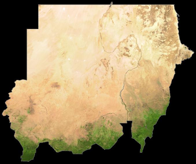 Sudan Satellite Map
