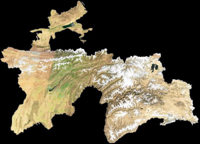 Tajikistan Satellite Map
