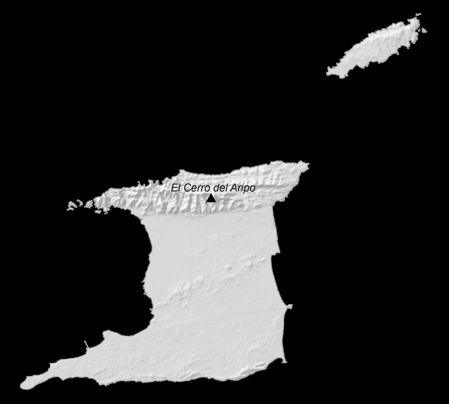 Trinidad and Tobago Elevation Map