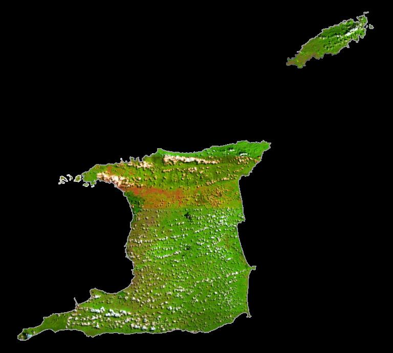 Trinidad and Tobago Satellite Map