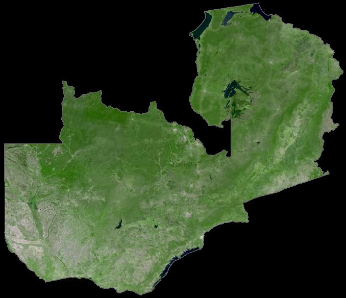 Zambia Satellite Map