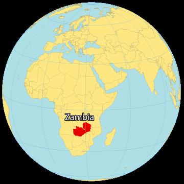 Zambia World Map