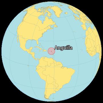 Anguilla World Map