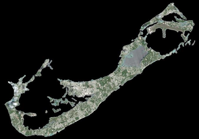Bermuda Satellite Map