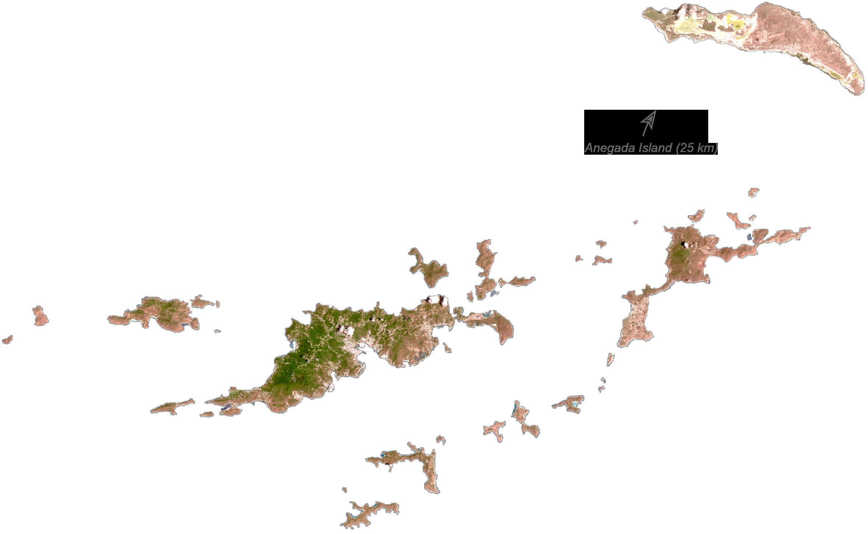British Virgin Islands Satellite Map