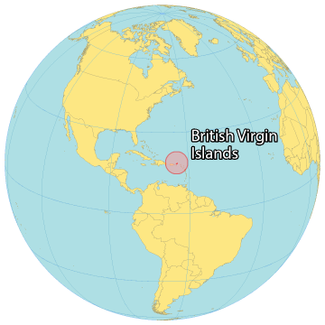 British Virgin Islands World Map