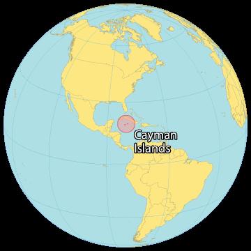 Cayman Islands World Map