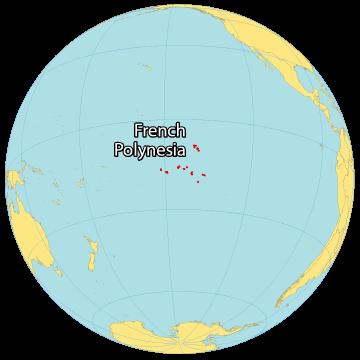 French Polynesia World Map