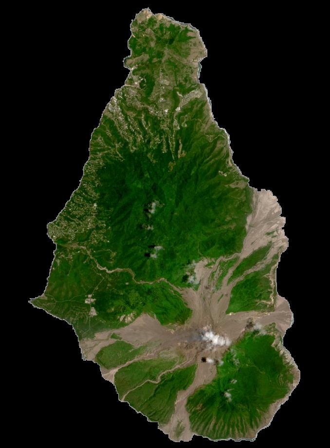 Montserrat Satellite Map