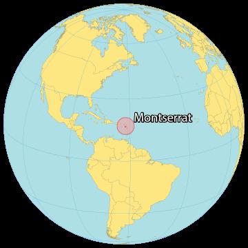 Montserrat World Map