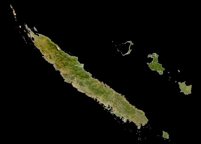 New Caledonia Satellite Map