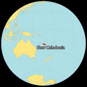 New Caledonia World Map