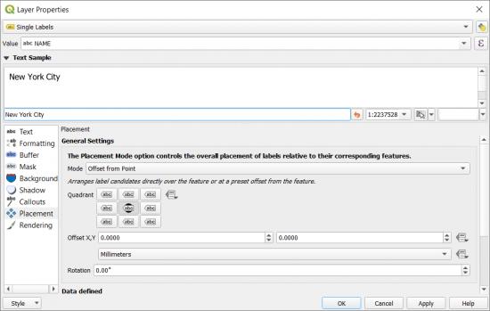 QGIS 3 Labeling