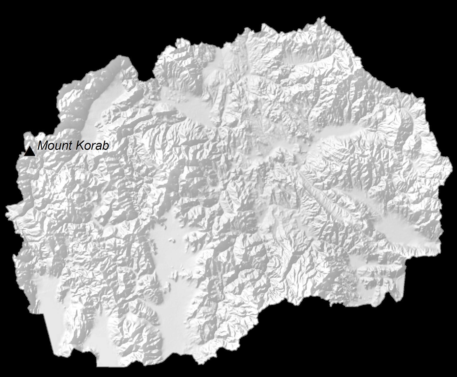 North Macedonia Elevation Map