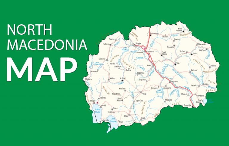 North Macedonia Map