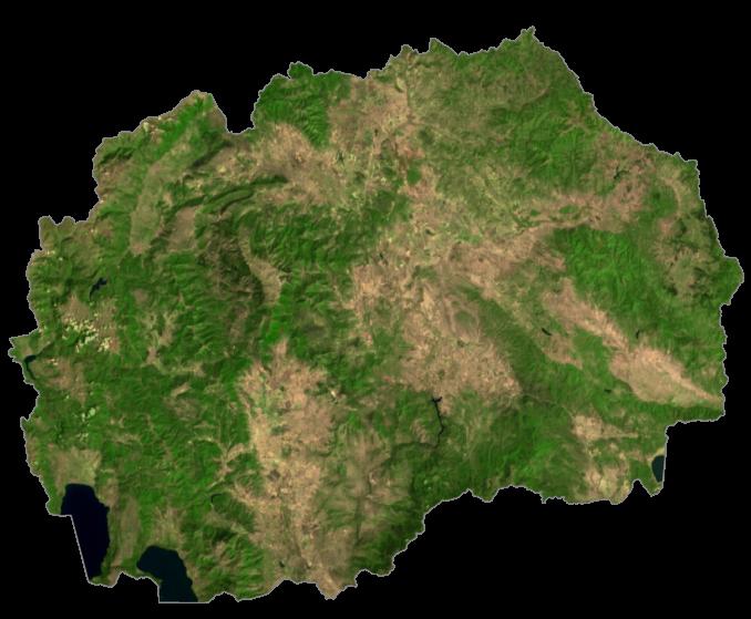 North Macedonia Satellite Map
