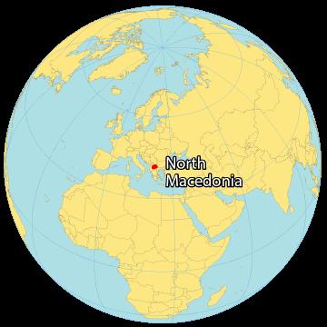 North Macedonia World Map