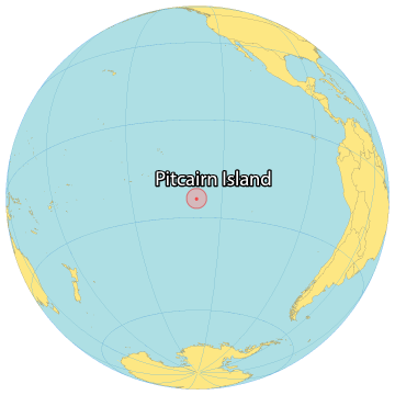 Pitcairn Island World Map