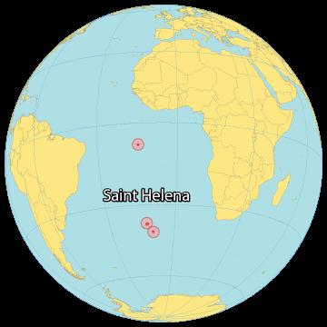 Saint Helena World Map
