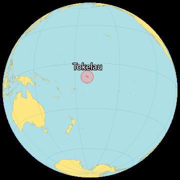 Tokelau World Map