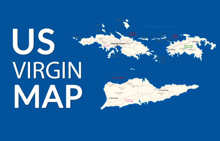 US Virgin Islands Map