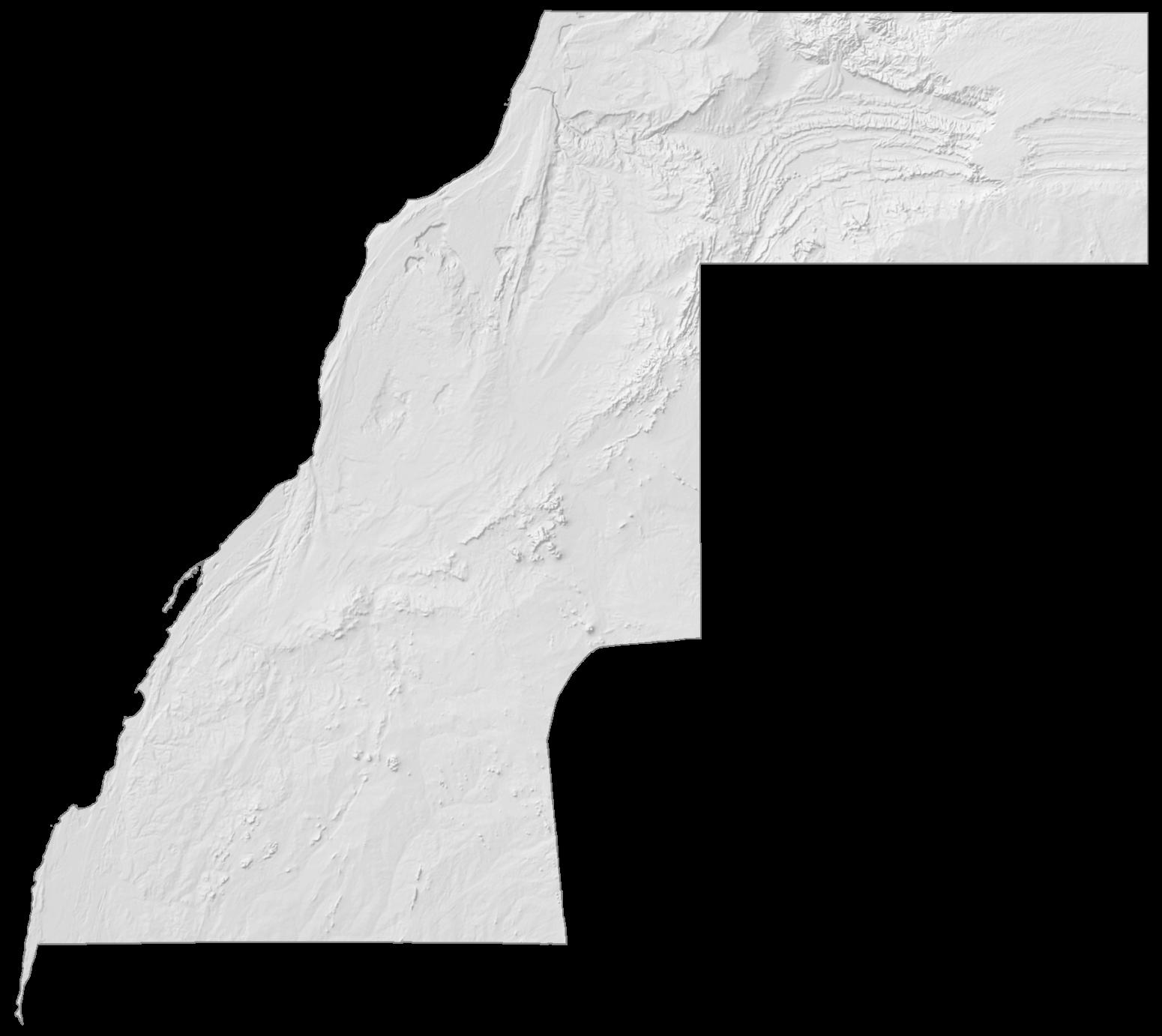 Western Sahara Elevation Map