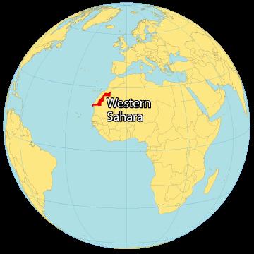Western Sahara World Map